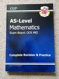 New AS-Level Year 1 Maths OCR MEI Complete Revision & Practice By CGP Books RRP £11