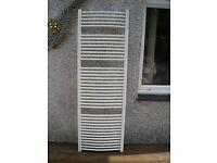 Large towel rail radiator white