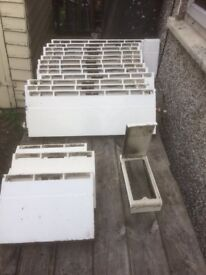 Vintage baseboard cast iron radiators by CRANE