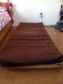 Solid pine sofa futon bed