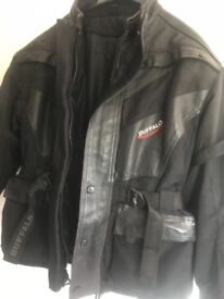 Women's motorcycle jacket and trousers