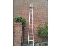 16 Aluminum double ladder with wall stay