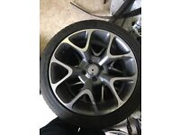 Vauxhall Corsa vxr replica wheels and tyres
