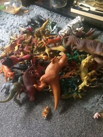 Huge collection animals and dinosaurs