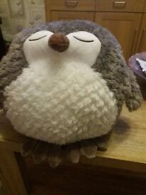 30cm Giant Owl Hand Warmer/Cushion/Toy