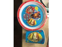 Paw patrol plate and cup