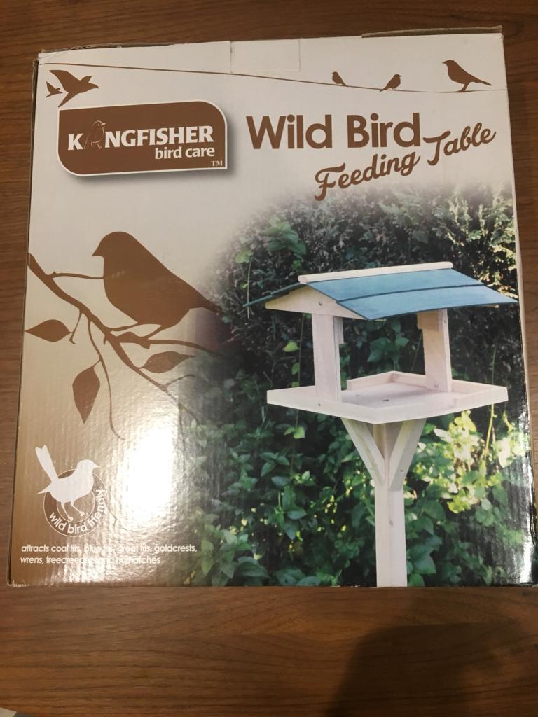 Wild bird feeding table