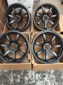 17 inch GTR SPORT ALLOY WHEELS ALLOYS / RIMS, Racing fits HONDA - NISSAN - RENAULT - FIAT - and more