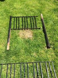 Metal gate and railing