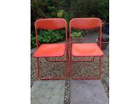 Folding picnic chairs