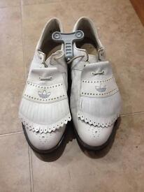 Adidas white golf shoes size 9.5