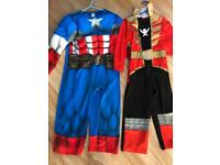 2x 3-4 years customers. Captain America and Red power Ranger
