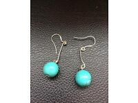 Handmade New Silver 925 & Turquoise Earrings