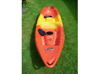 2 person canoe and helmets for sale