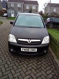08 VAUXHALL MERIVA 1.6 DESIGN, SAPHIRE BLACK ONLY 52000 MILES TWIN SUNROOFS, CRUISE CONTROL, VGC