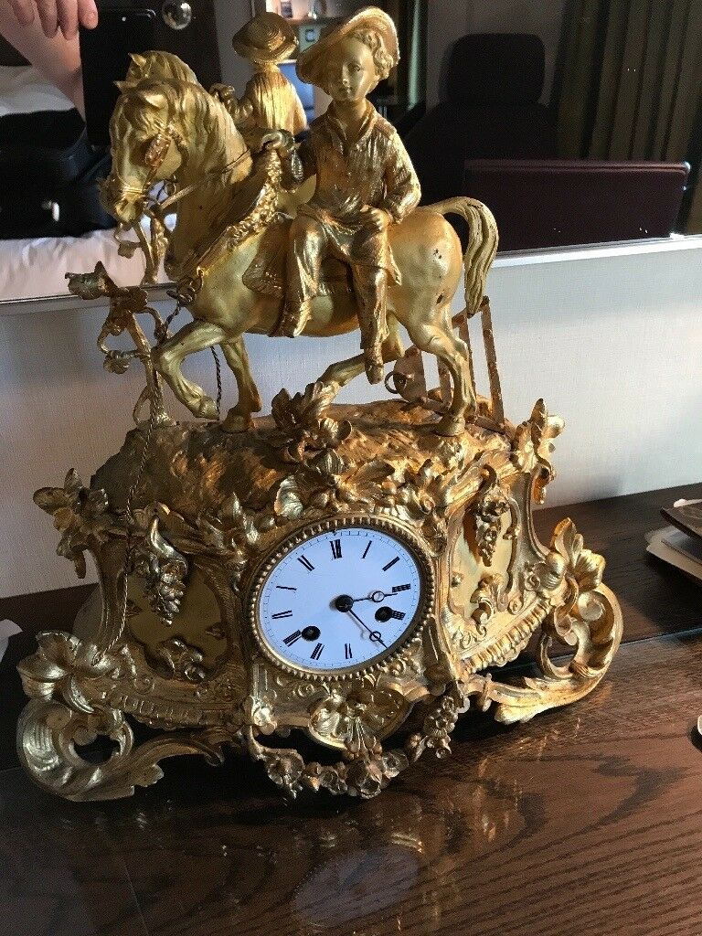 French Antique Skelter clock