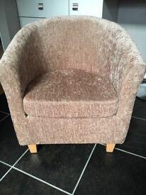 Chenille Tub chair