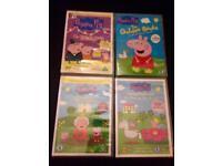 Peppa Pig DVDs x4