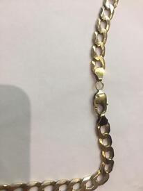 9 CRT gold curb chain