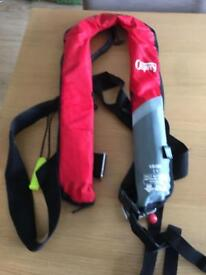 Osprey inflatable life jacket for boating, sailing, water sports