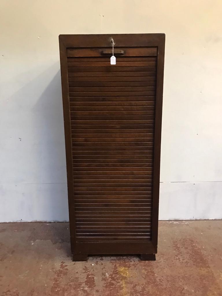 Antique wooden filing cabinet