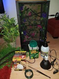 Chameleon reptibreeze vivarium and set up