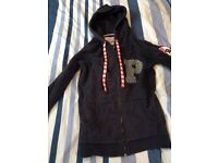 Paul's Boutique zip sailor's hoodie in size small