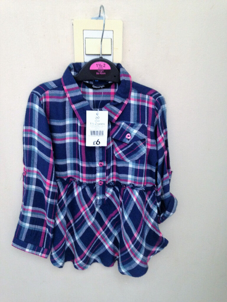 Girls size 18-24 months check shirt **BRAND NEW WITH TAGS**