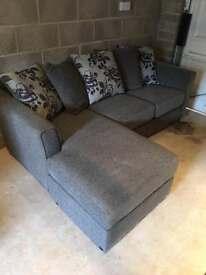 Grey corner sofa and chair