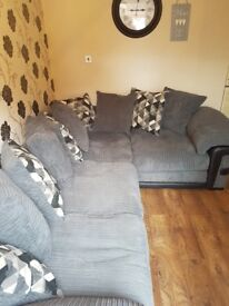 12 month old left side corner sofa for sale excellent condition