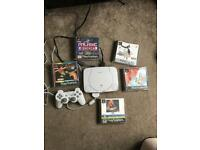 Sony PlayStation ps1 slim bundle 5 games and controller
