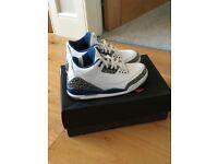 Nike Air Jordan 3 III Retro True Blue UK 7.5