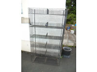 Black Plastic Coated Wire Display Basket unit 142cm H x 78cm W x 26cm D