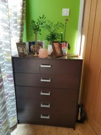 Like new Chest of draws and two bed side units