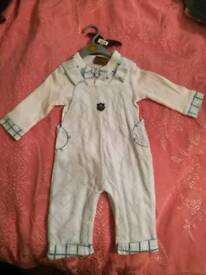 Boys Velour Outfit Blue 6-9m New with Tags