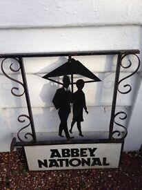 Metal Abby National Advertising Sign