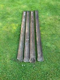 Reclaimed lightweight cast iron guttering