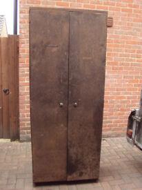 Vintage Industrial Shelved Large Metal Cabinet - workshop, home or garage storage