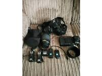 Nikon D3100 with lots of accessories collection only.