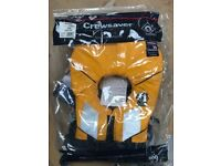 CREWSAVER JUNIOR SPIRAL 100N LIFE JACKET IN YELLOW / NAVY 2820 CHILD & BABY Brand new in packaging