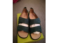 Hotter Florence Sandals Size 6 New in box, leather / nubuck, dark teal, cost £69