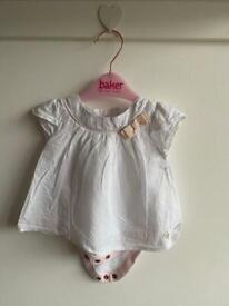 Ted Baker white flounce top