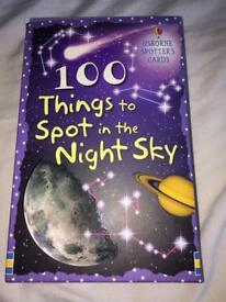 100 things to spot in the night sky. Spotters cards perfect for children.