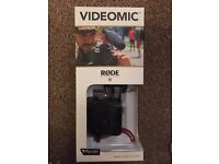 Videomic Rode Microphone, new, still boxed and unused.
