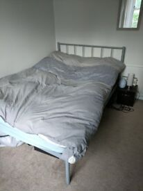 Double bed - metal frame and regal gold memory airflow mattress