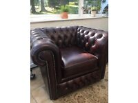 Chesterfield club chair , oxblood leather