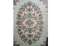 100% virgin wool pile very large Indian rug. Immaculate