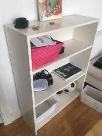 White IKEA style shelves