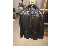 London Fog Mens Leather Jacket Medium