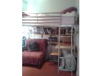 High Sleeper metal frame bed